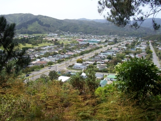 View of Wainuiomata Valley looking towards our home in the hills